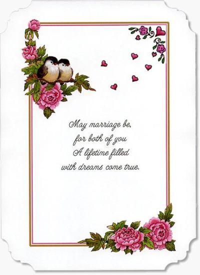 Wedding Verse - WEDV003   Wedding/Anniversary wishes ...
