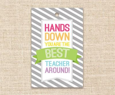 Teacher Gift Printable Unique Gifts for Teachers by konadesigns, $3.00 | Daycare Teacher Gifts ...