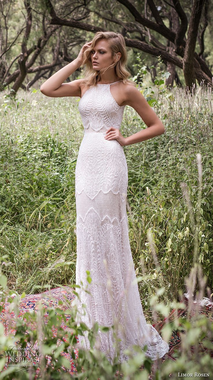 sleeveless wedding gown inspiration boho wedding dress Limor Rosen Wedding Dresses Birds Of Paradise Bridal Collection