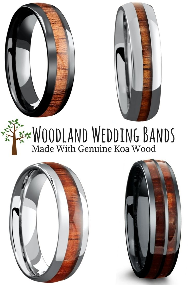 wedding ring images qvc wedding rings The woodland wedding ring collection For the future husband who loves the great outdoors