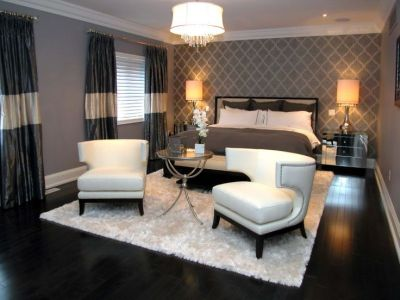 Thinking of wallpaper behind the new bed | Master Bedroom | Pinterest