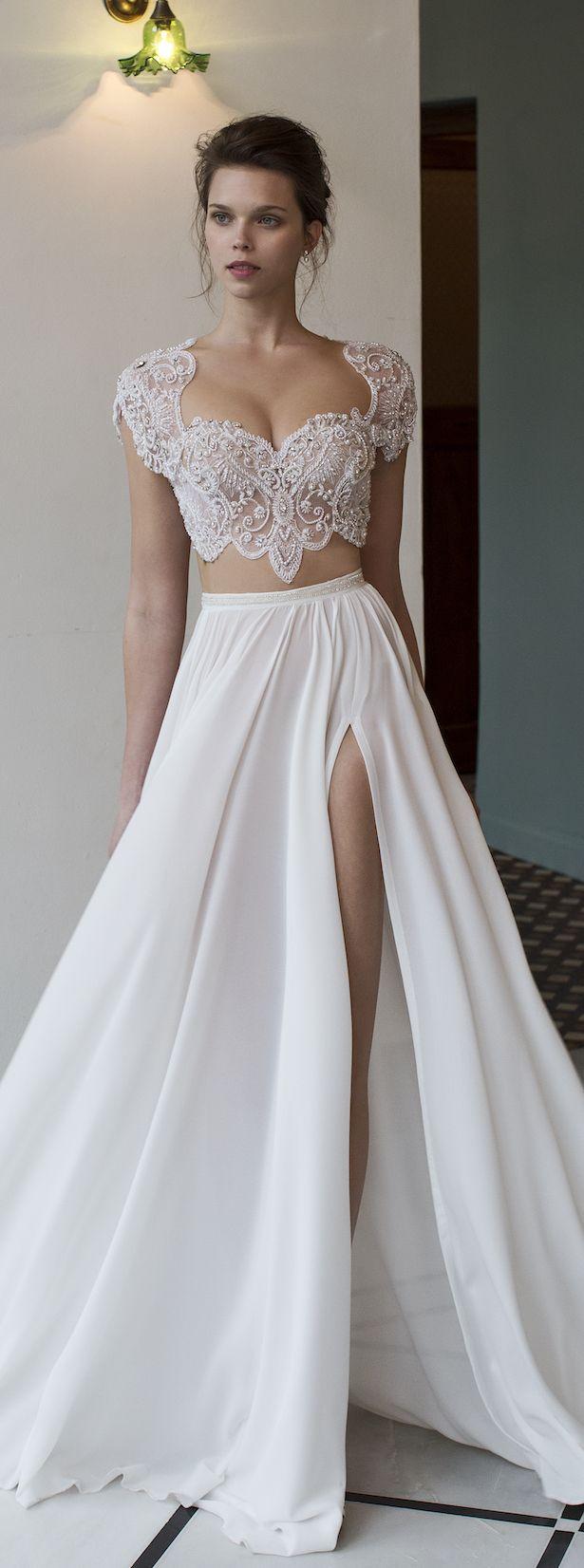 conservative wedding dress tank top wedding dresses Bridal Trends Two Piece Wedding Dresses