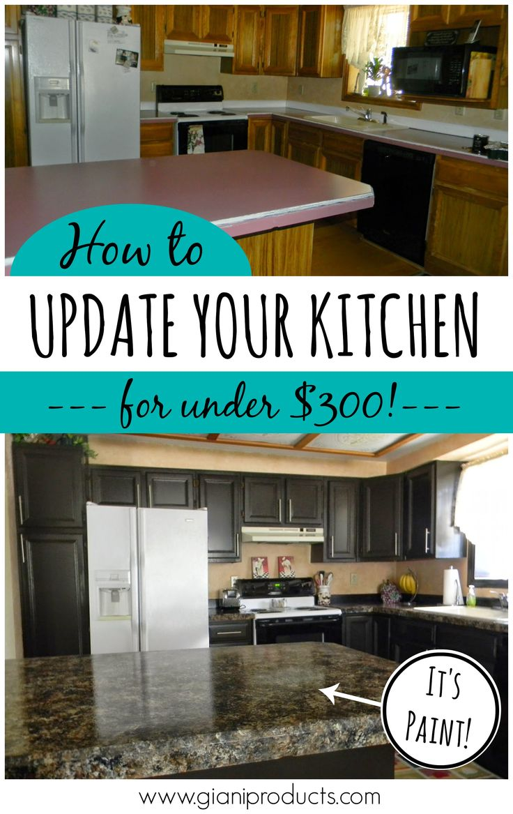 cheap kitchen cabinets cheap cabinets for kitchen Kitchen update on a budget Countertop paint that looks like granite and one day