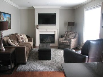 grey wall brown couch design ideas pictures remodel and decor livingroom pinterest walls toronto small family rooms furniture