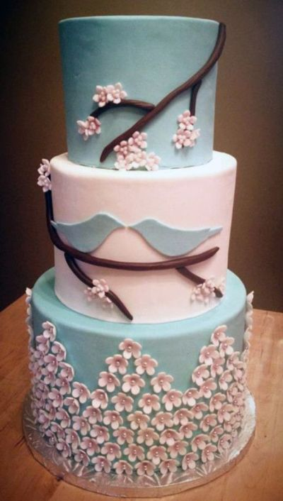 Blue Love Birds Wedding Cake | ** All Things Wedding ...
