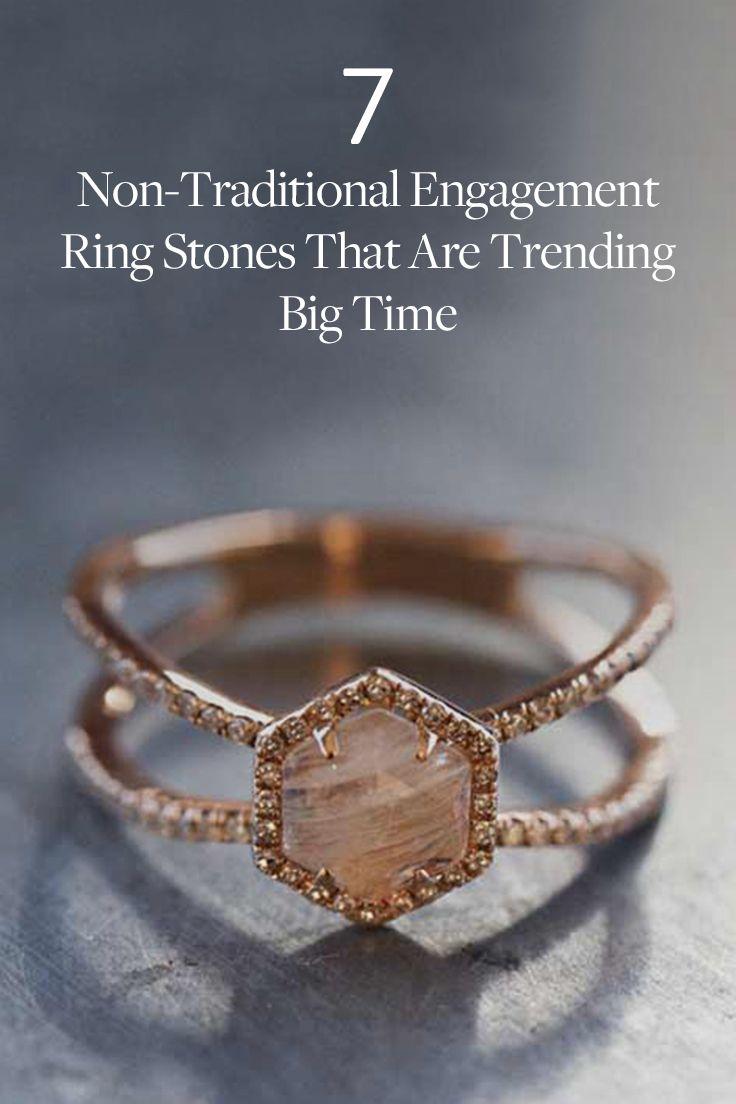 moonstone engagement rings moonstone wedding ring sets 7 Non Traditional Engagement Ring Stones That Are Trending Big Time