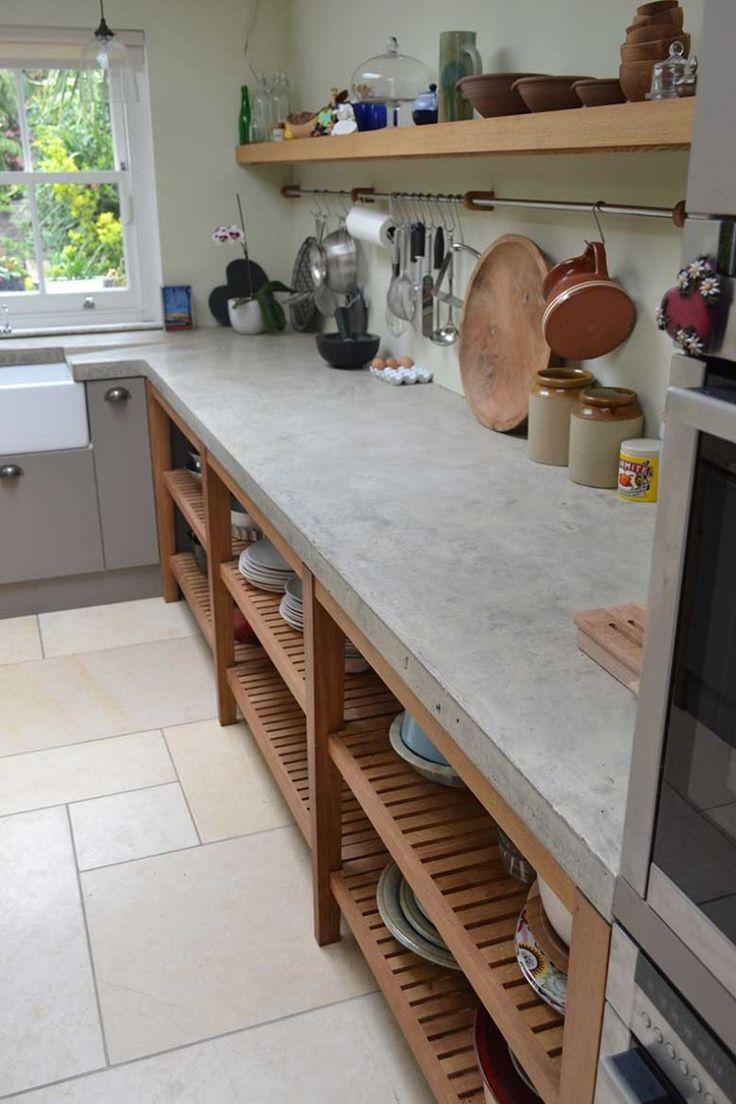 polished concrete kitchen concrete kitchen floor Large bespoke polished concrete worktop cast in situ with no joins