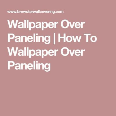 1000+ ideas about How To Install Wallpaper on Pinterest | Paint Wood Paneling, Cover Wood ...