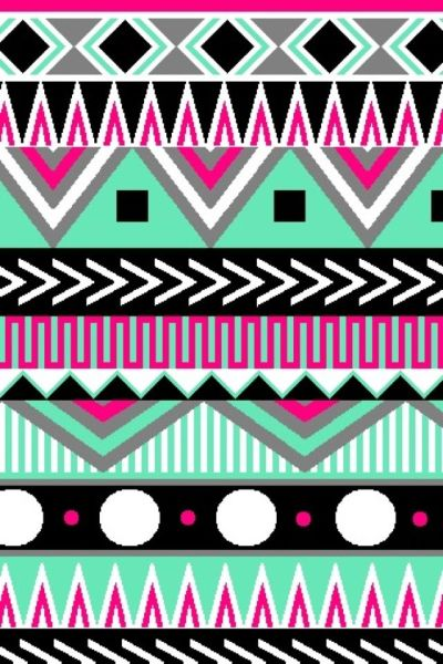 Multi-color Aztec | Cute wallpapers (CocoPPa) | Pinterest | iPhone backgrounds, Wallpaper for ...