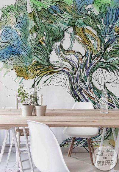 25+ best ideas about Tree wall murals on Pinterest   Wall murals, Wall murals bedroom and Forest ...