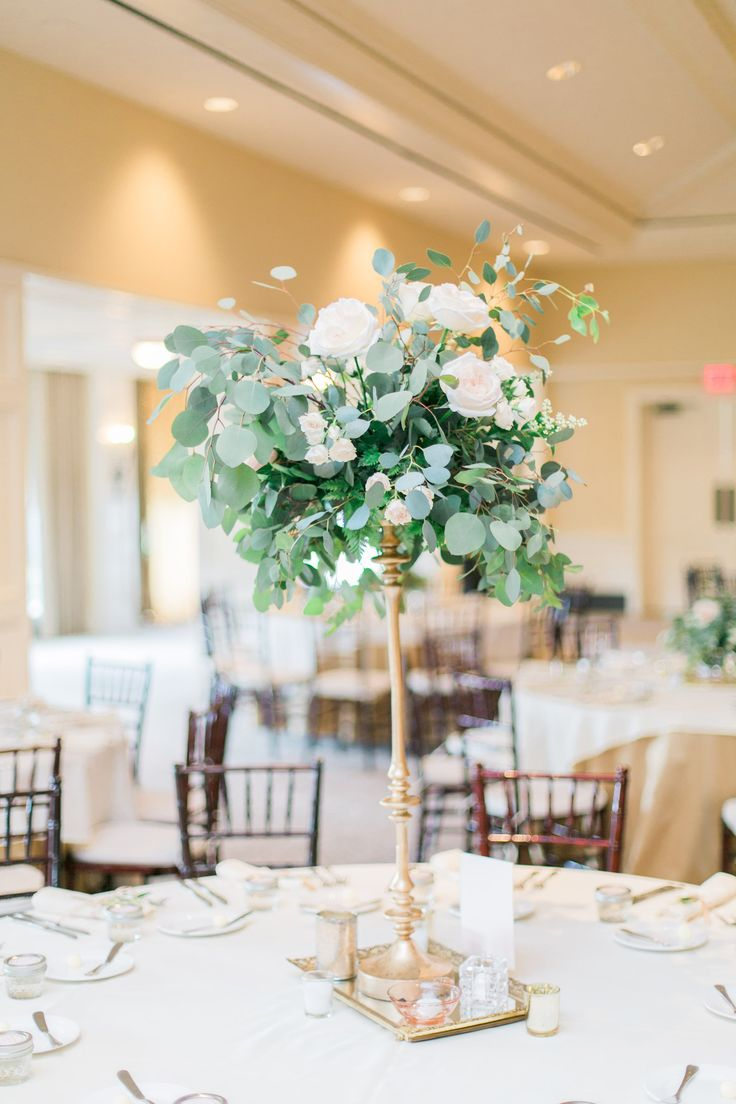 tall centerpieces wedding centerpiece eucalyptus and rose tall wedding centerpiece