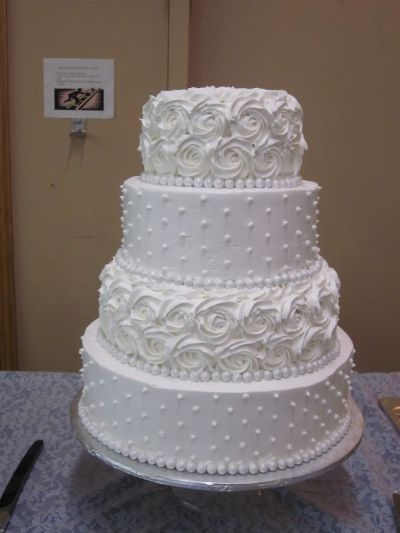 kroger wedding cakes | only wish it crusted like ...