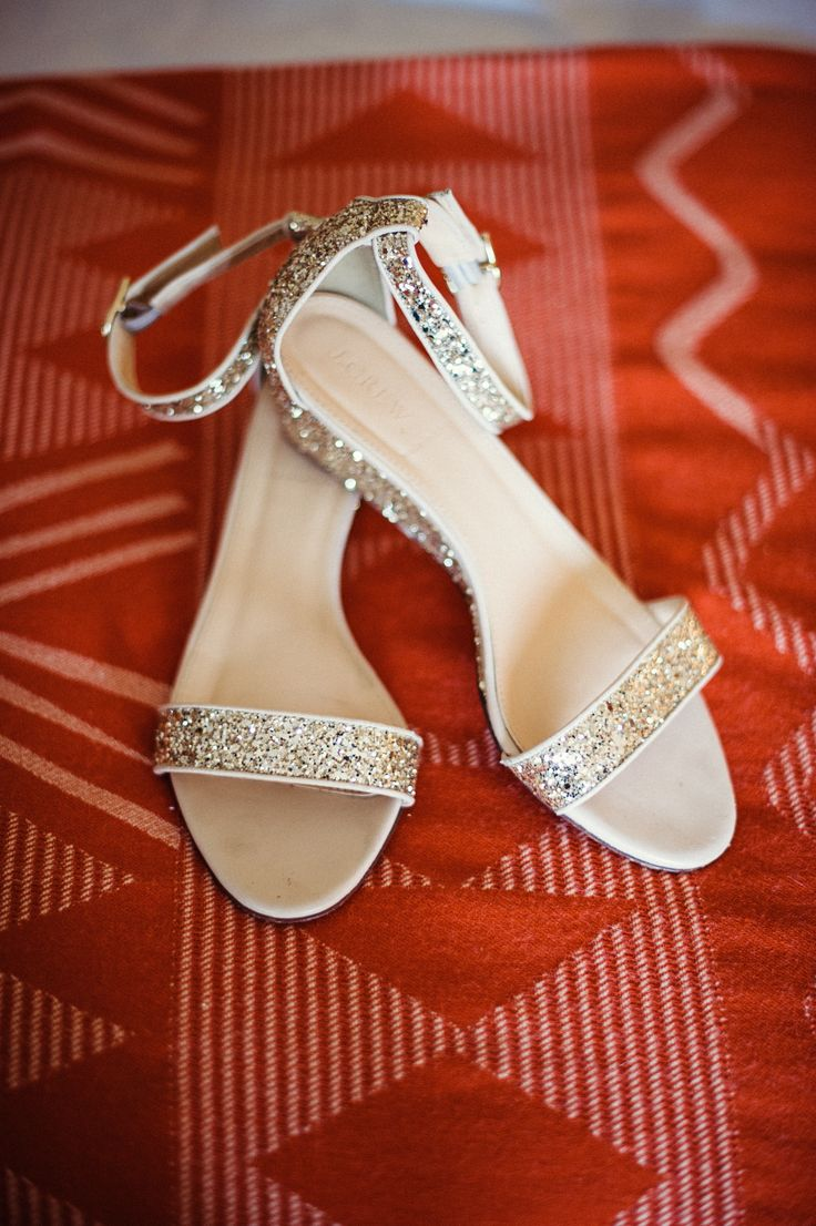 outdoor wedding shoes wedding sandals Glitter Sandals Scobey Photography Theknot com