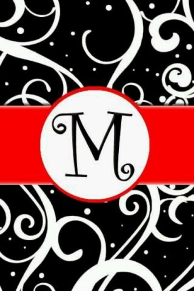 Red, white, and black. M | Melissa | Pinterest | Red and Letters