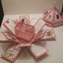Explosion Box Card Template   Dream Wedding IdeaS Around The World