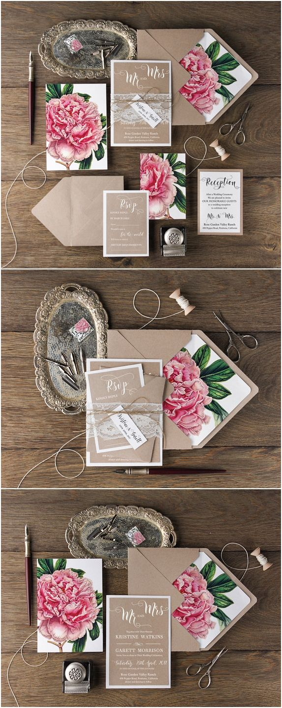 floral wedding stationery floral wedding invitations 30 Our Absolutely Favorite Rustic Wedding Invitations