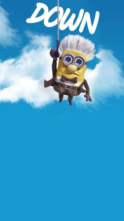 2014 Halloween up movie parody minion iphone 6 plus wallpaper HD - Despicable Me, down #iphone # ...