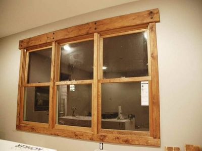 17 best images about no trim around window on Pinterest | Rustic wood, Wood stain and Idea quotes