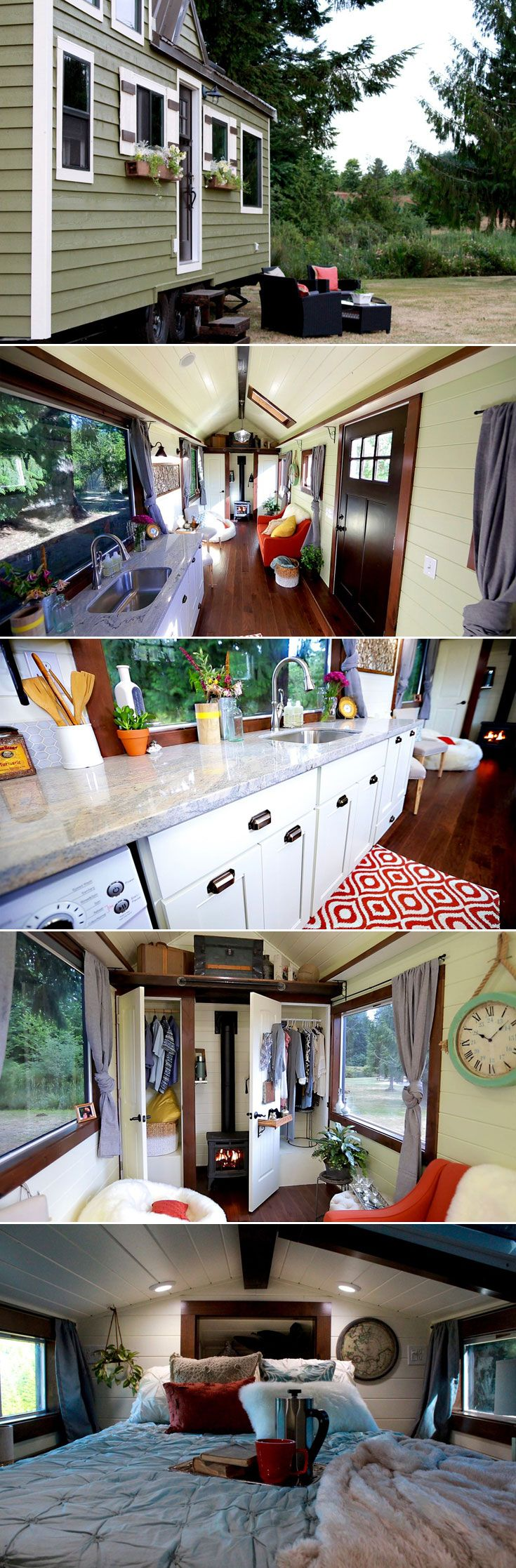 living smaller hgtv kitchen remodel best images about Living Smaller on Pinterest House plans Square feet and School buses