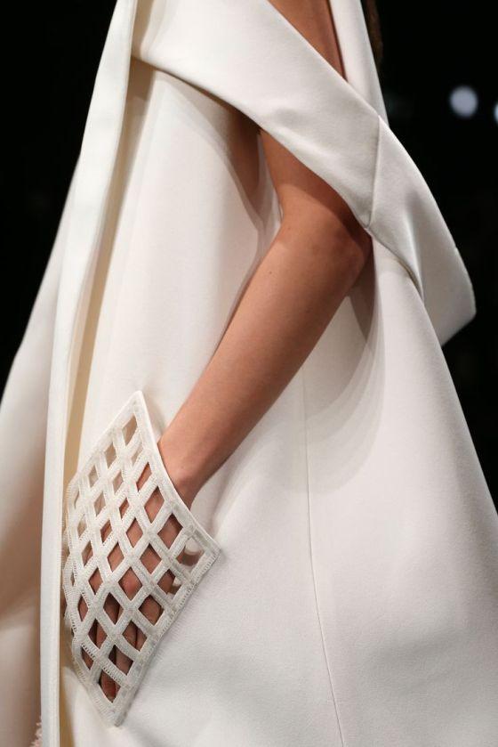 Grid Pocket detail - sewing inspiration; dress design; fashion close up // Balenciaga Spring 2015