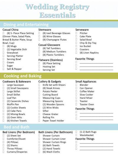 25+ best ideas about Wedding registry checklist on ...