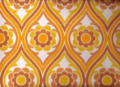 Vintage 1970s Wallpaper - Brown Funky Flower - Price per yard. $14.00, via Etsy. | Retro/Vintage ...