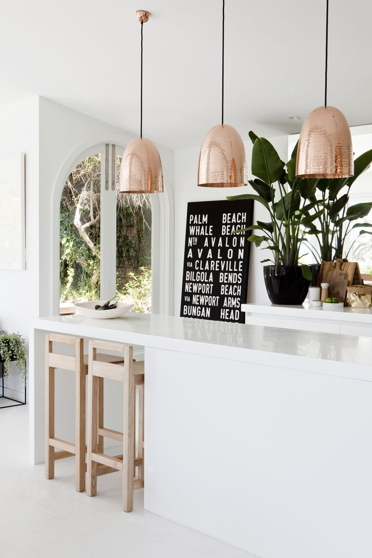 copper pendant lights copper pendant light kitchen The most beautiful kitchen trends of