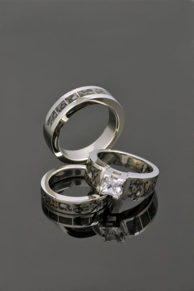 dinosaur bone rings dinosaur wedding band Dinosaur Bone Rings in 14k White Gold by Hileman Silver Jewelry Dinosaur bone engagement ring
