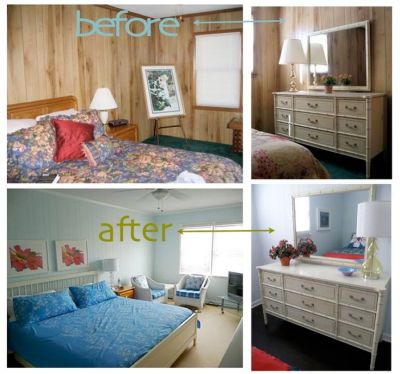 Painting Over Wood Paneling Before and After | painted wood paneling, before/after | Ideas for ...