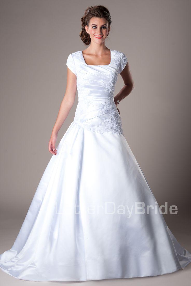 wedding dresses modest wedding dress Modest Wedding Dresses Mormon LDS Temple Marriage Hemsworth