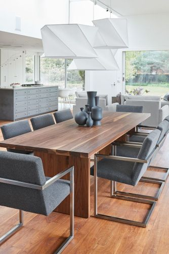 sit stay eat modern dining eat in kitchen table Corbett Tables Modern dining furniture