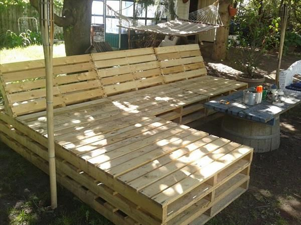 diy pallet outdoor sectional furniture 99 pallets garden from g