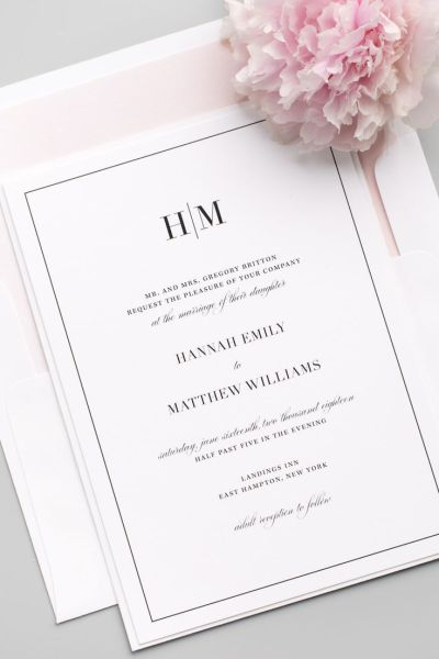 25+ best ideas about Modern wedding invitations on ...