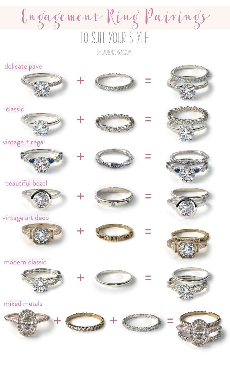 modern wedding rings modern wedding rings Wedding Bells Our Favorite Engagement Ring Wedding Band Pairings