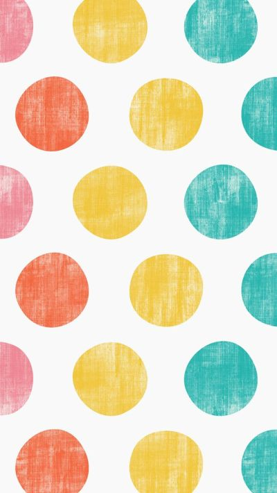 iphone 5 wallpaper - Polka Dots #pink #orange #yellow #teal #pattern   mobile wallpapers ...