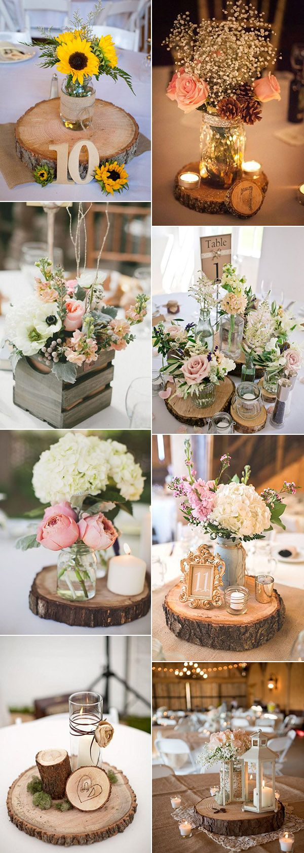 wood wedding decorations centerpieces for wedding Wedding Trends 36 Perfect Rustic Wood Themed Wedding Ideas