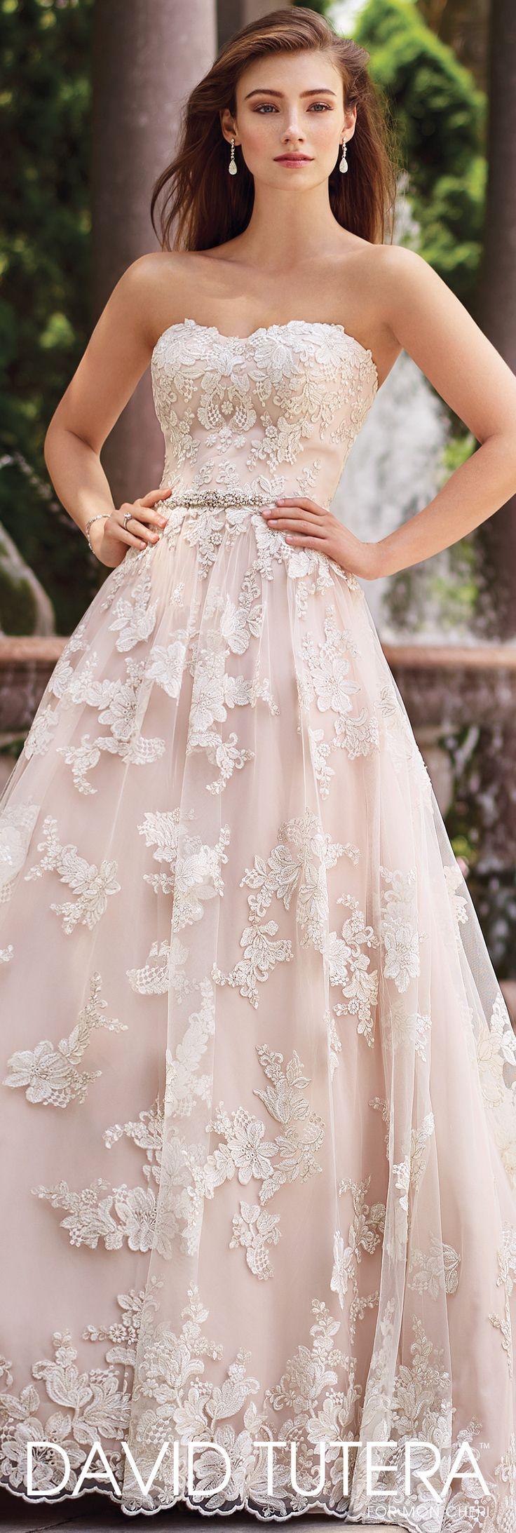 pink wedding dresses colored wedding dress Hand Beaded A Line Wedding Dress Tala David Tutera