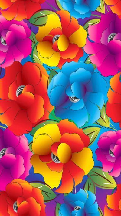 iPhone wallpaper bright rainbow floral   Wallpaper- iPhone, smartphone   Pinterest   Beautiful ...