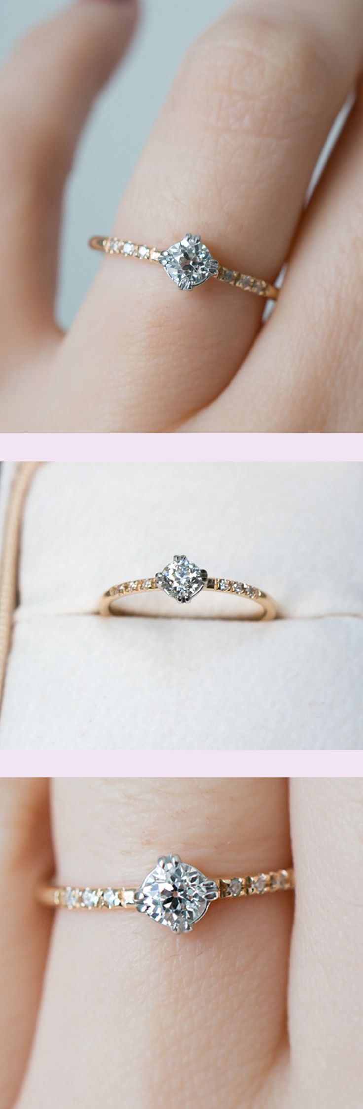 wedding rings simple simple wedding ring The sweetest vintage diamond engagement ring by S Kind