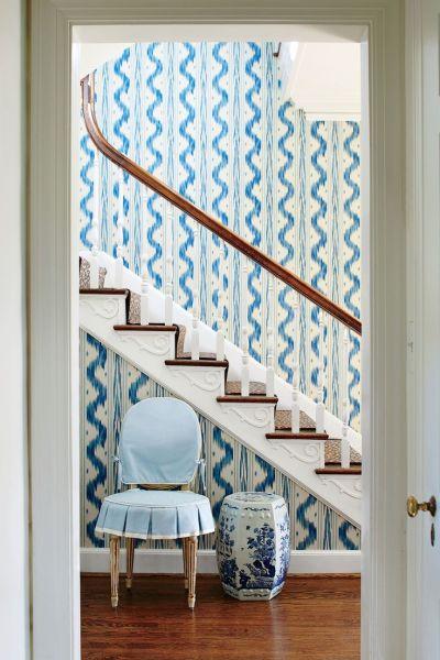 25+ best ideas about Foyer wallpaper on Pinterest | Hallway wallpaper, Half bathroom wallpaper ...