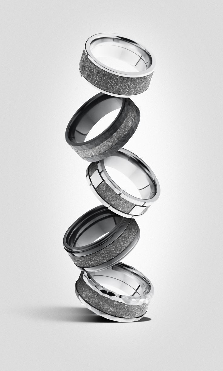 mens wedding bands mechanic wedding ring Meteorite wedding rings Made with real meteorites A ring out of this world