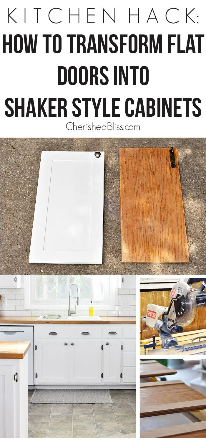 cabinet door makeover cheap cabinets for kitchen Kitchen Hack DIY Shaker Style Cabinets