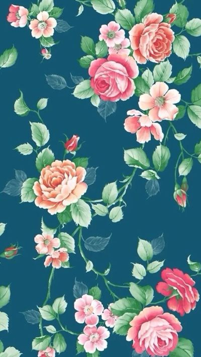 17 Best images about Floral backgrounds on Pinterest | iPhone backgrounds, Vintage fabrics and ...