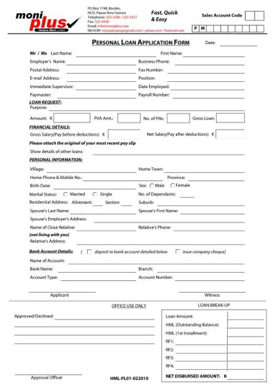 Printable Sample Personal Loan Contract Form | Laywers Template Forms Online | Pinterest