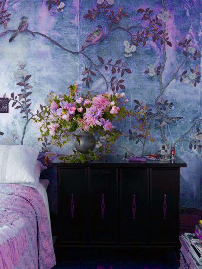 爱 Chinoiserie walls. These are lovely. | Wallpaper | Pinterest | Chinoiserie, Boho Gypsy and ...