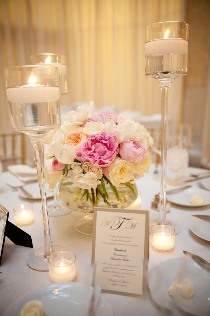 spring wedding centerpieces wedding flower centerpieces Bright and Colorful Tall Flower CenterpiecesSpring Wedding