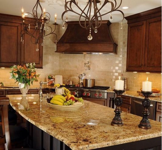 tuscan kitchen love the granite like colors and backsplash lighting p