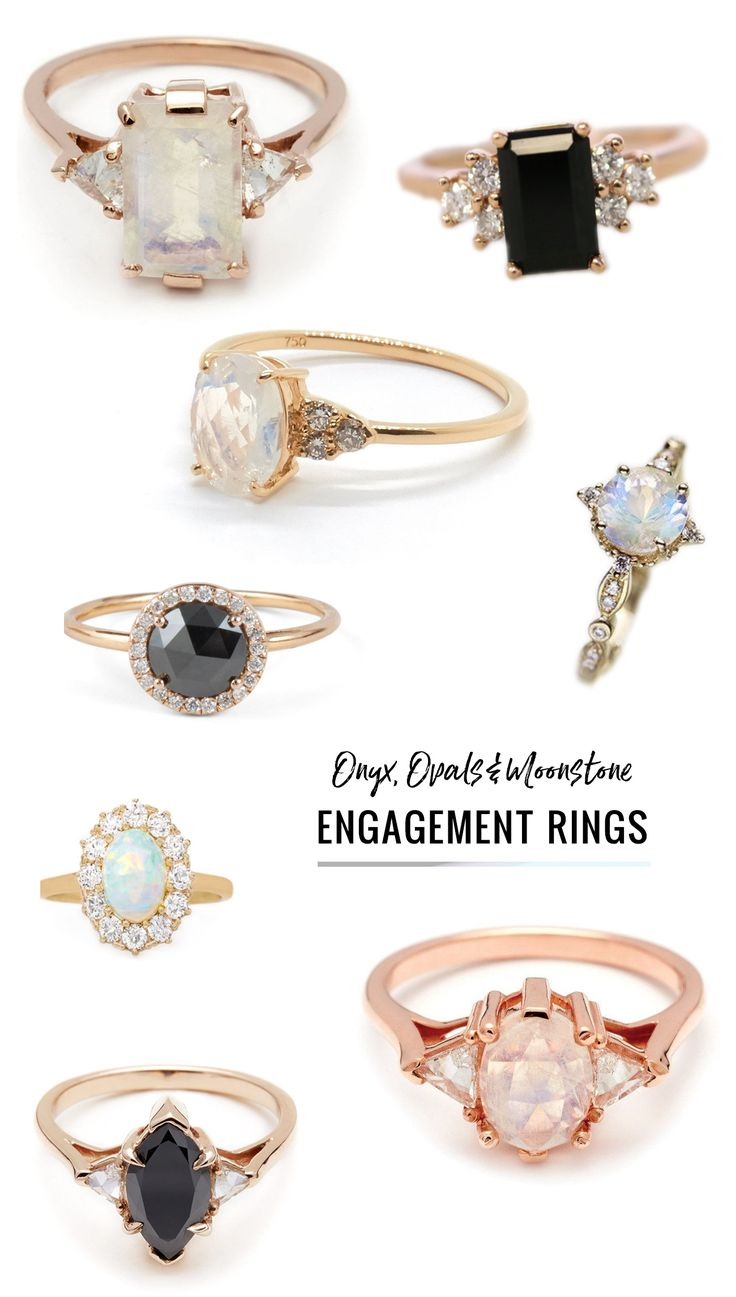 moonstone engagement rings moonstone wedding rings Ditch the Diamond Alternative Engagement Rings Featuring a Colored Stone