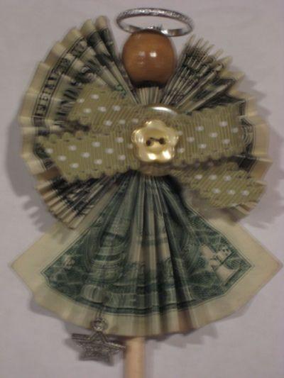 Money dollar origami angel   Dollar Money Origami ...