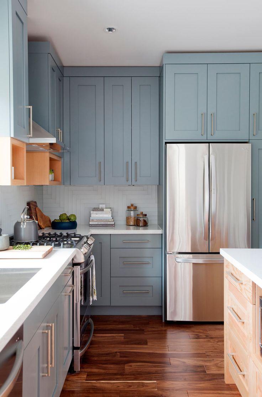 kitchen interior blue cabinets kitchen 25 best ideas about Kitchen Interior on Pinterest Hexagon tiles Honeycomb tile and Tile